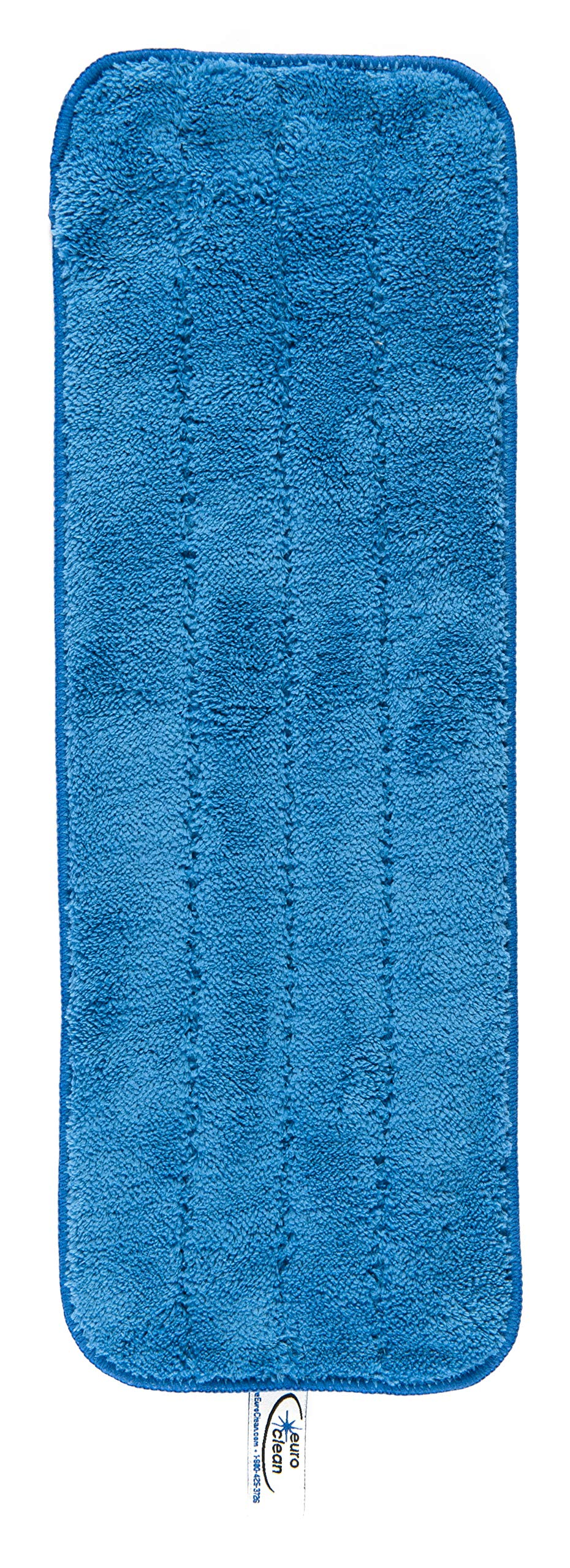 2 Microfiber Mop Pads Washable Commercial Quality, Replacement Refills for Velcro Style Flat Mops - Use Wet or Dry by Euroclean