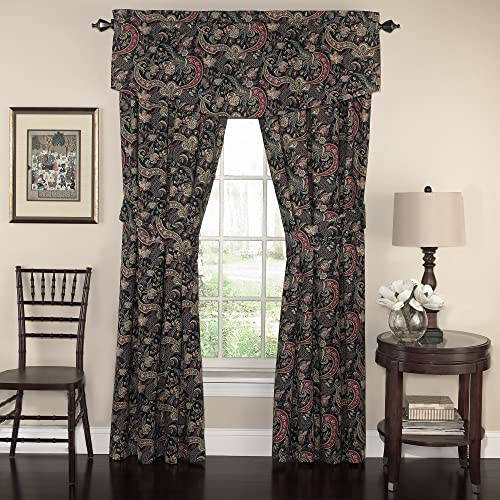 WAVERLY Valances for Windows – Rhapsody 52 x 18 Short Curtain Valance Small Window Curtains Bathroom, Living Room and Kitchens, Jewel