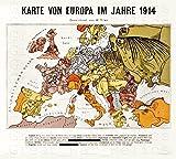 UpCrafts Studio Design WWI German Map - Europe 1914