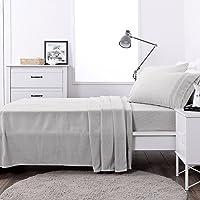 SILVER Flannel Warm Polar Fleecy BED SHEET SET