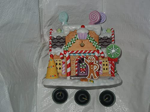 Christmas Gingerbread Cottage P7901 Collectible Tea House Collection Hand-painted Apx. 7 Tall