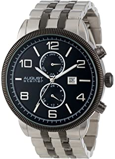 August Steiner Mens AS8069 Swiss Quartz Multifunction Watch with Nice Dial and Bracelet