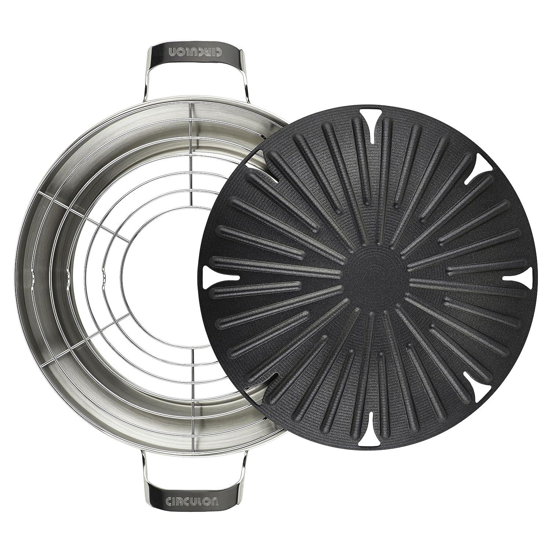 Amazon.com: Circulon Hard-Anodized Nonstick 12-Inch Round Stovetop ...
