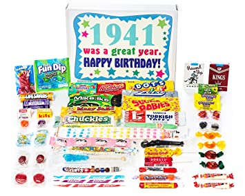 Woodstock Candy 1941 77th Birthday Gift Box Of Nostalgic Retro From Childhood For A 77