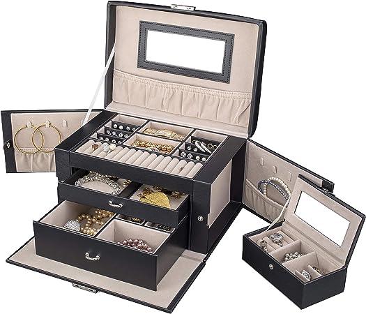 TRESKO® Caja para joyas joyero caja de joyas organizador de joyas ...