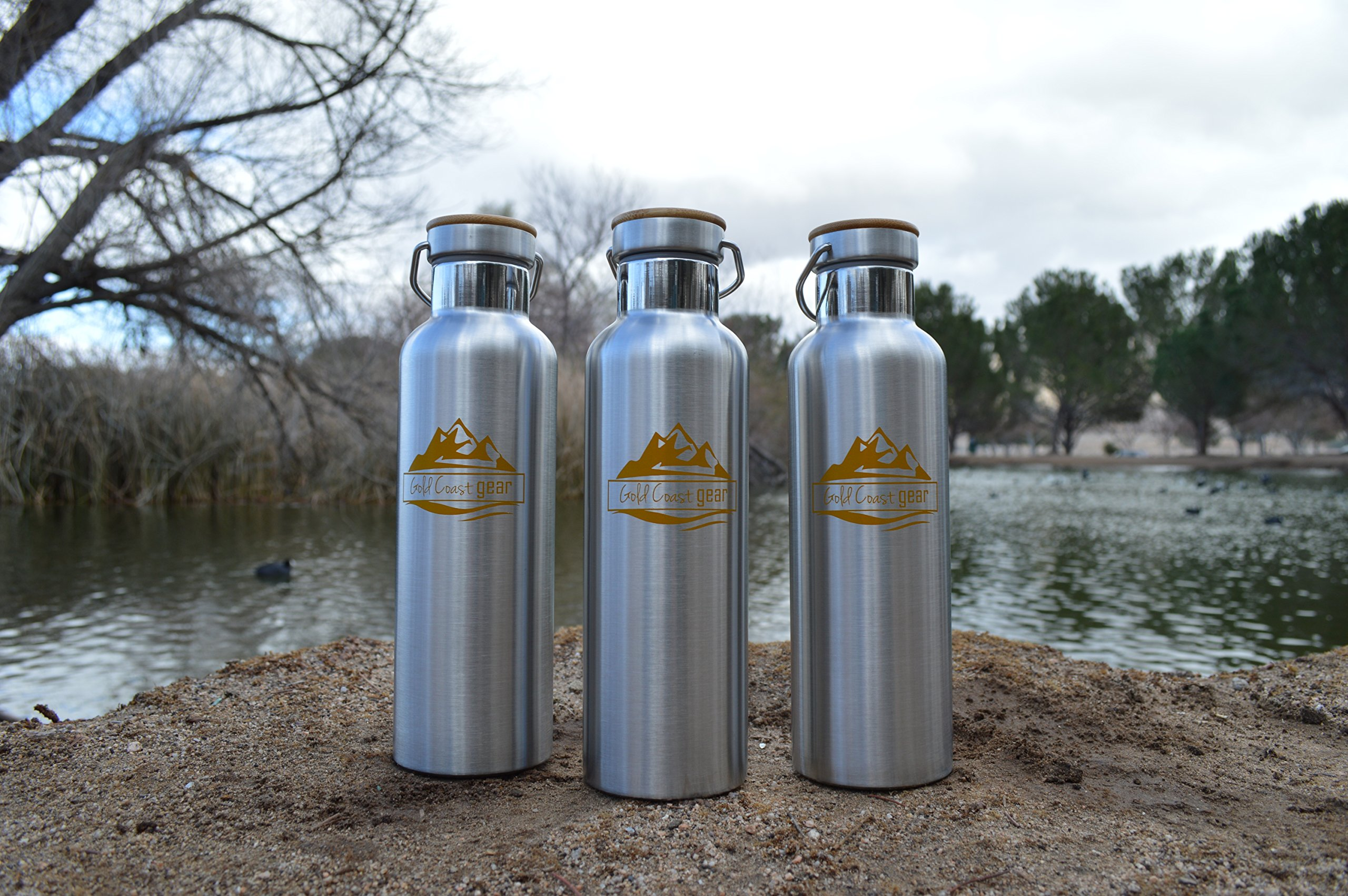 Vacuum Insulated Stainless Steel Water Bottle ( 25 OZ / 750 ML ). Zero Condensation! (750ml) by Gold Coast gear (Image #6)