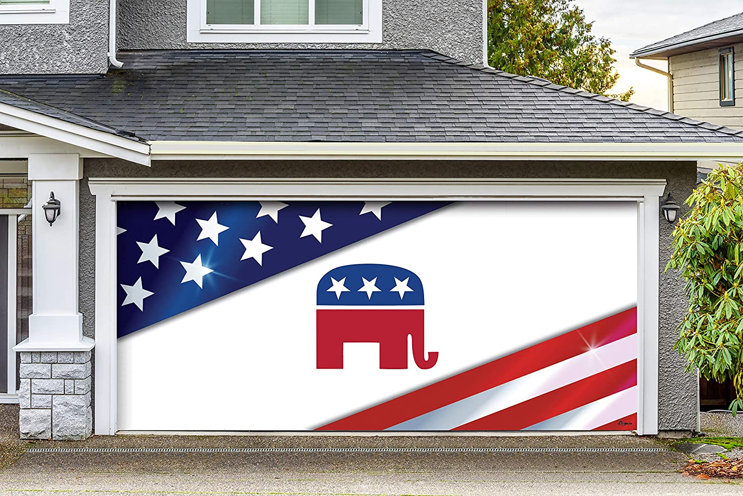 Victory Corps Republican Holiday Garage Door Banner Mural Sign Décor 7 X 16 Car Garage The Original Holiday Garage Door Banner Decor Garden Outdoor