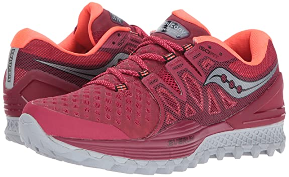 53545c08 Saucony Women's Xodus Iso 2 Running-Shoes, Berry Coral, 12 Medium US ...