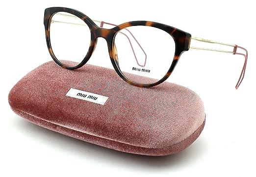 7e81b30a2d5 Amazon.com  Miu Miu 03PV Women Round Eyeglasses (Dark Havana Frame ...