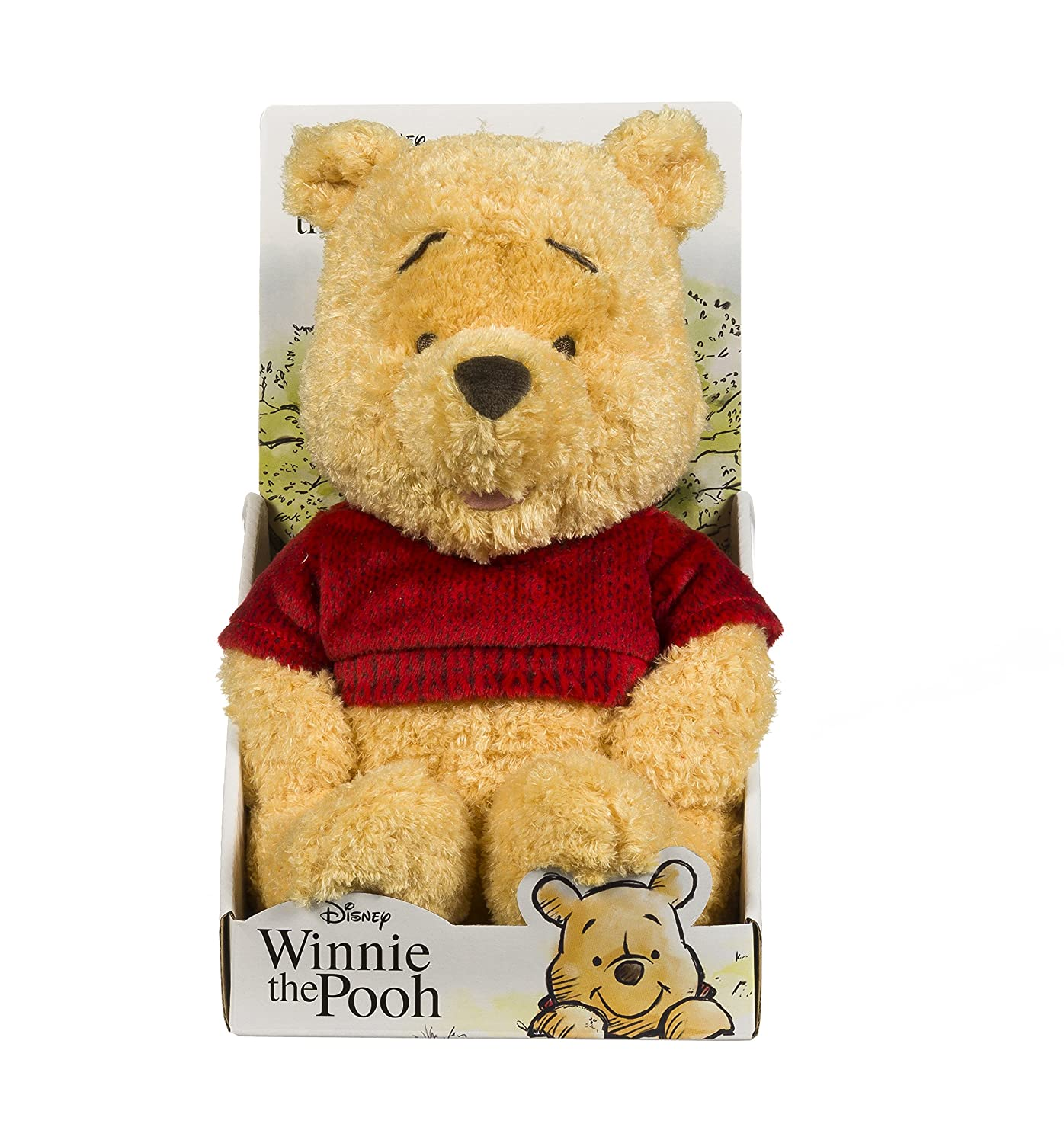 Posh Paws 37125 - Peluche de Winnie The Pooh, 25 cm, Color Rojo: Amazon.es: Juguetes y juegos