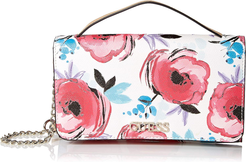 Guess Damen Wallet On A String Kamryn, Florale Brieftasche