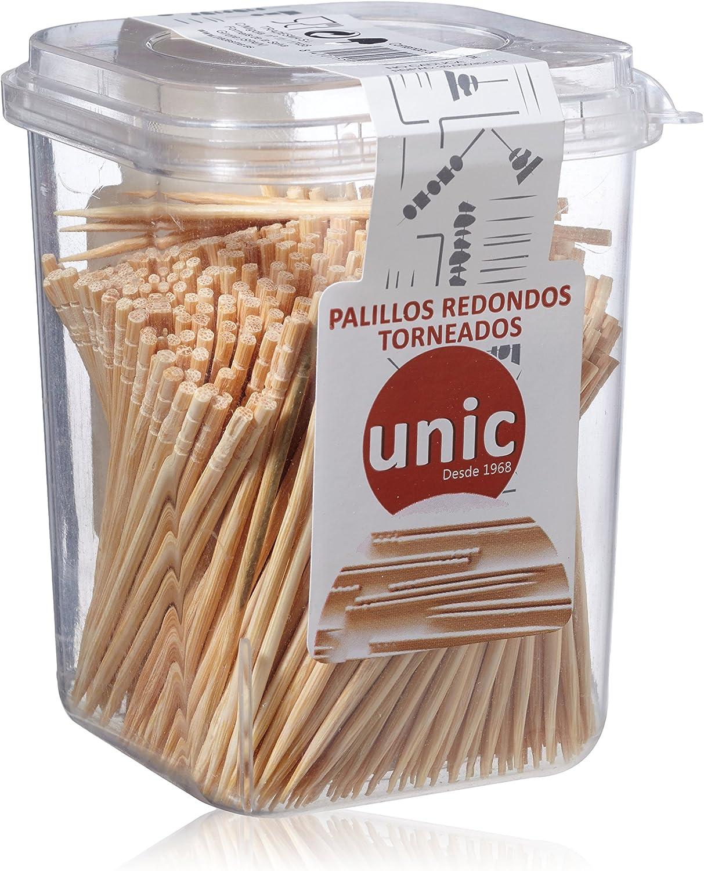 Unic Palillos Redondos Torneados - 550 Unidades: Amazon.es: Belleza