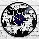 Snoopy design wall clock, Snoopy decal, Snoopy design wall poster