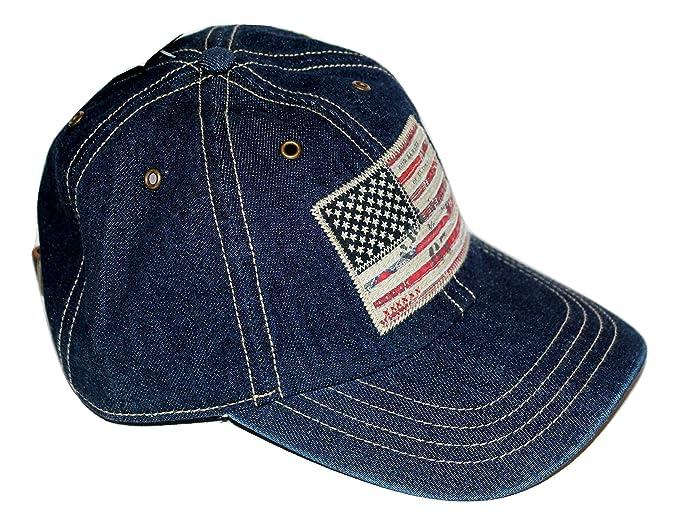 Image Unavailable. Image not available for. Colour  Ralph Lauren Polo Men s  Denim USA Flag Baseball Cap 2513f09d703