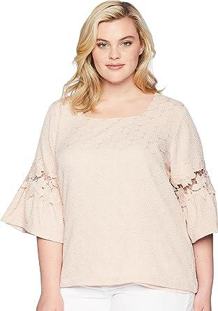 2386cd92f31 Calvin Klein Plus Womens Plus Size Square Neck w Lace Detail at Amazon  Women s Clothing store