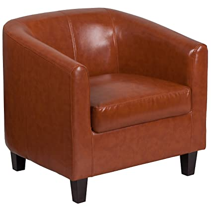 Beau Image Unavailable. Image Not Available For. Color: Flash Furniture Cognac Leather  Lounge Chair