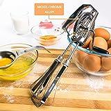 KiTheea Manual Egg Beater - Stainless Steel Kitchen Hand Mixer - Eggs Separator Tool - Hand Beater Whisker - Hand Whisk