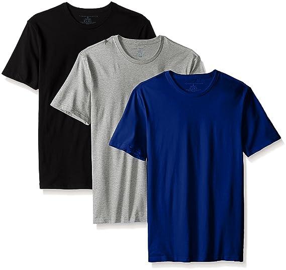8544bada Tommy Hilfiger Mens Undershirts 3 Pack Cotton Classics Crew Neck T-Shirts  Undershirts 3 Pack Cotton Classics Crew Neck T-Shirt Short Sleeve Underwear  ...