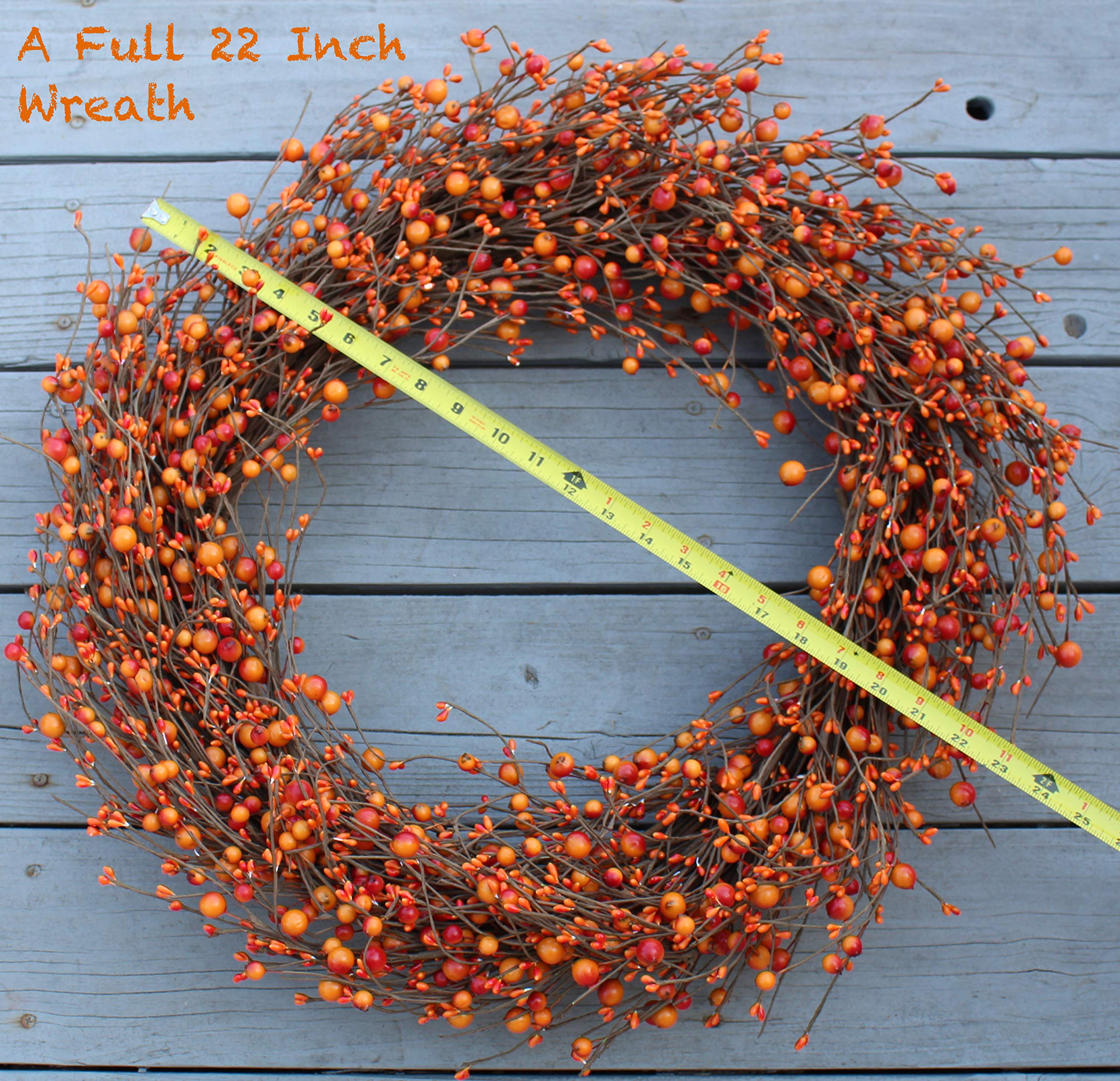 The Wreath Depot Weston Fall Berry Wreath, 22 Inches by The Wreath Depot (Image #6)