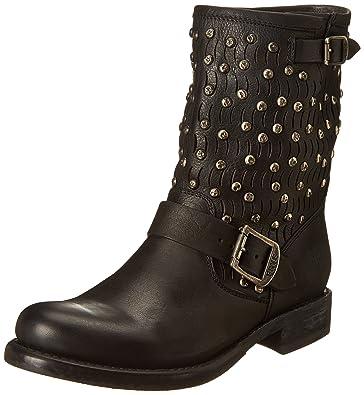 FRYE Women's Jenna Cut Stud Short Boot, Black, ...