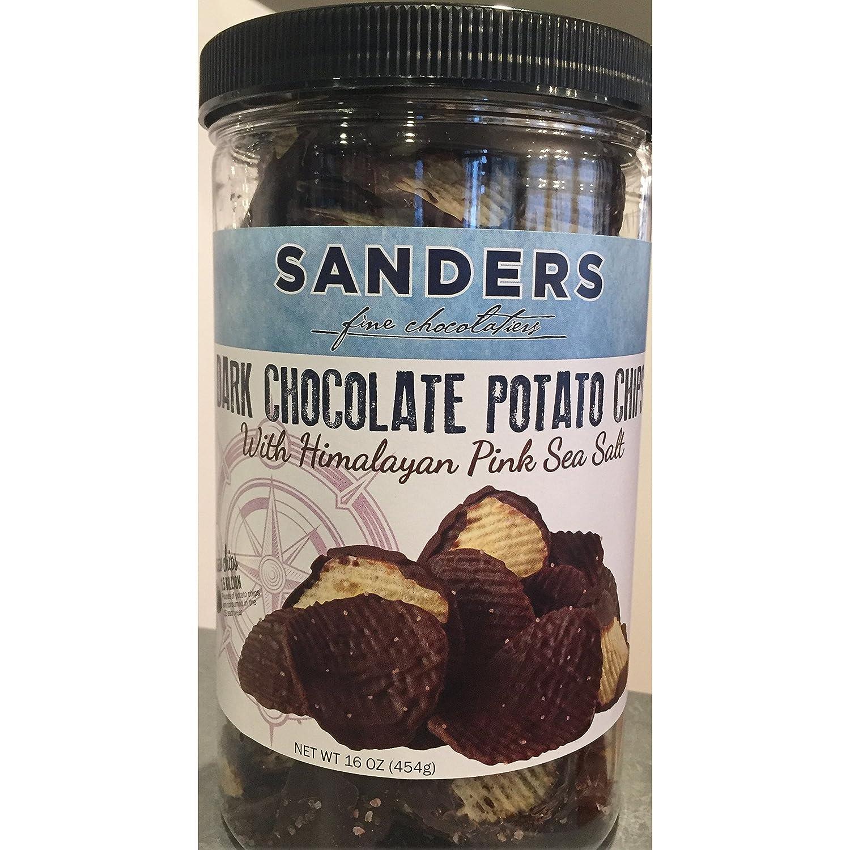 Amazon.com : Sanders Dark Chocolate Potato Chips 16oz Container ...