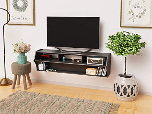 "58/"" Floating Tv Stand Wall Mount Shelf Storage Media Center Audio Console"