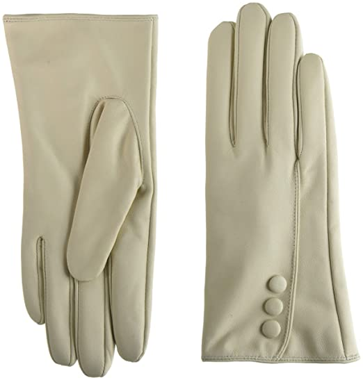 2658f267e4074 SNUGRUGS Womens Butter Soft Premium Leather Glove with Classic Triple  Button Stitch Detail   Warm Fleece