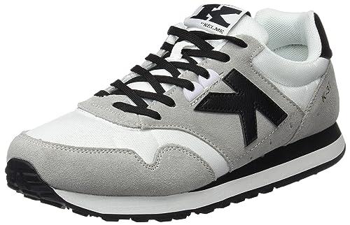 Kelme K-37, Zapatillas para Hombre, Gris (Blanco/Negro), 45 EU: Amazon.es: Zapatos y complementos