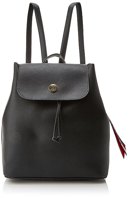 fe1ce66c17a51 Tommy Hilfiger Charming Backpack, Sacs à dos femme, Bleu (Tommy Navy Core  Stp), 15.5x31x32.5 cm (B x H T)  Amazon.fr  Chaussures et Sacs