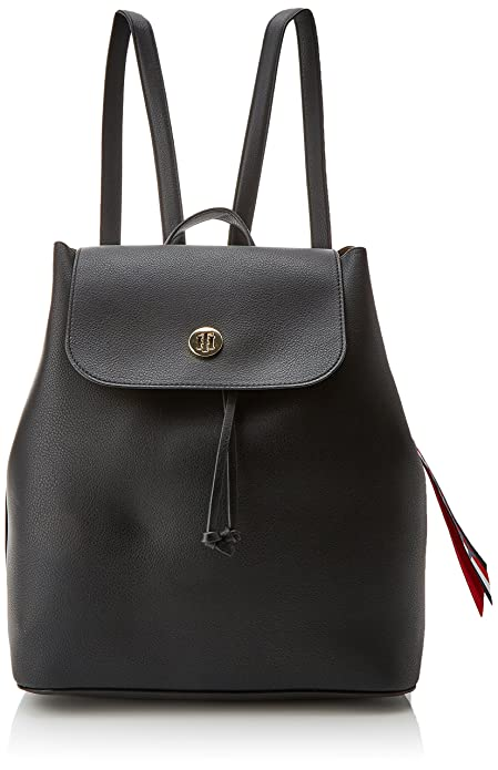 Tommy Hilfiger - Charming Backpack, Mochilas Mujer, Negro (Tommy Navy/Core Stp