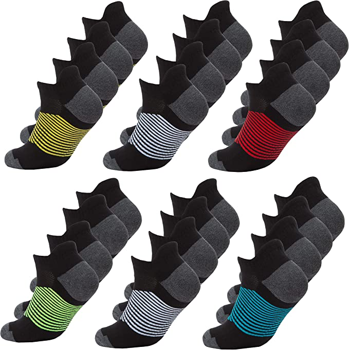 Stripe Texture Performance Hiking Non-Slip High Ankle Socks for teenagers