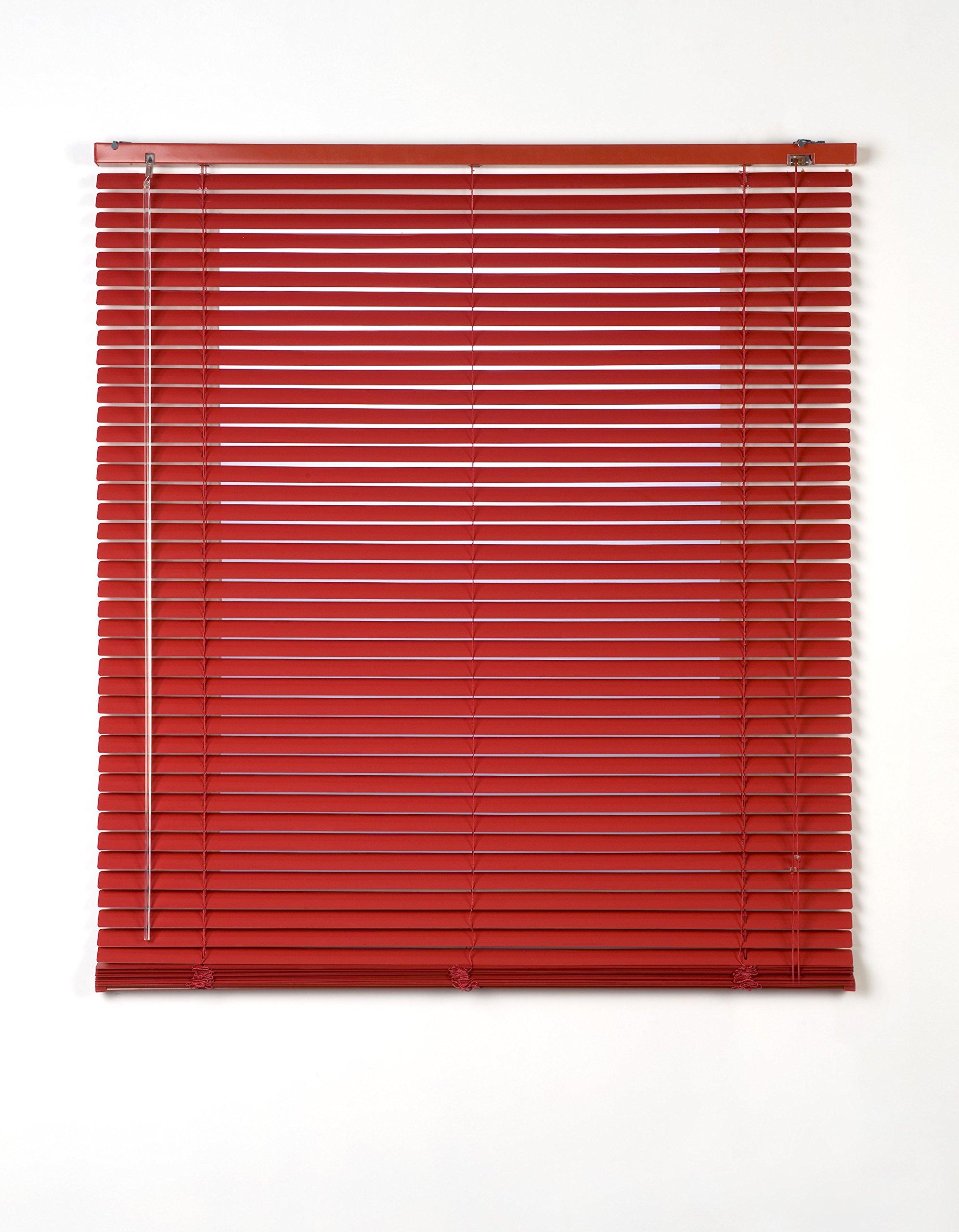 Estores Basic, persianas venecianas de aluminio, Rojo, 150x175cm, persianas venecianas, estores