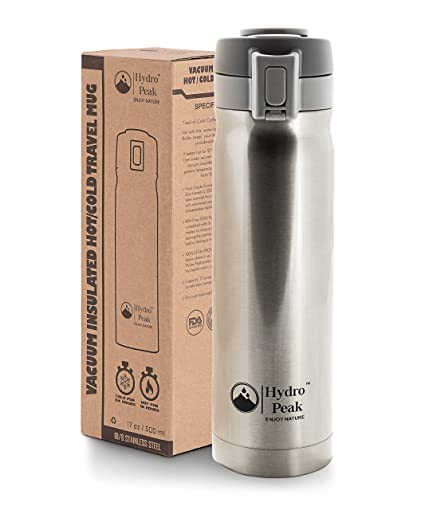 0c51b3f29a 17oz Coffee Thermos, Stainless Steel Travel Mug, Double Wall Vacuum  Insulated Water Bottle,