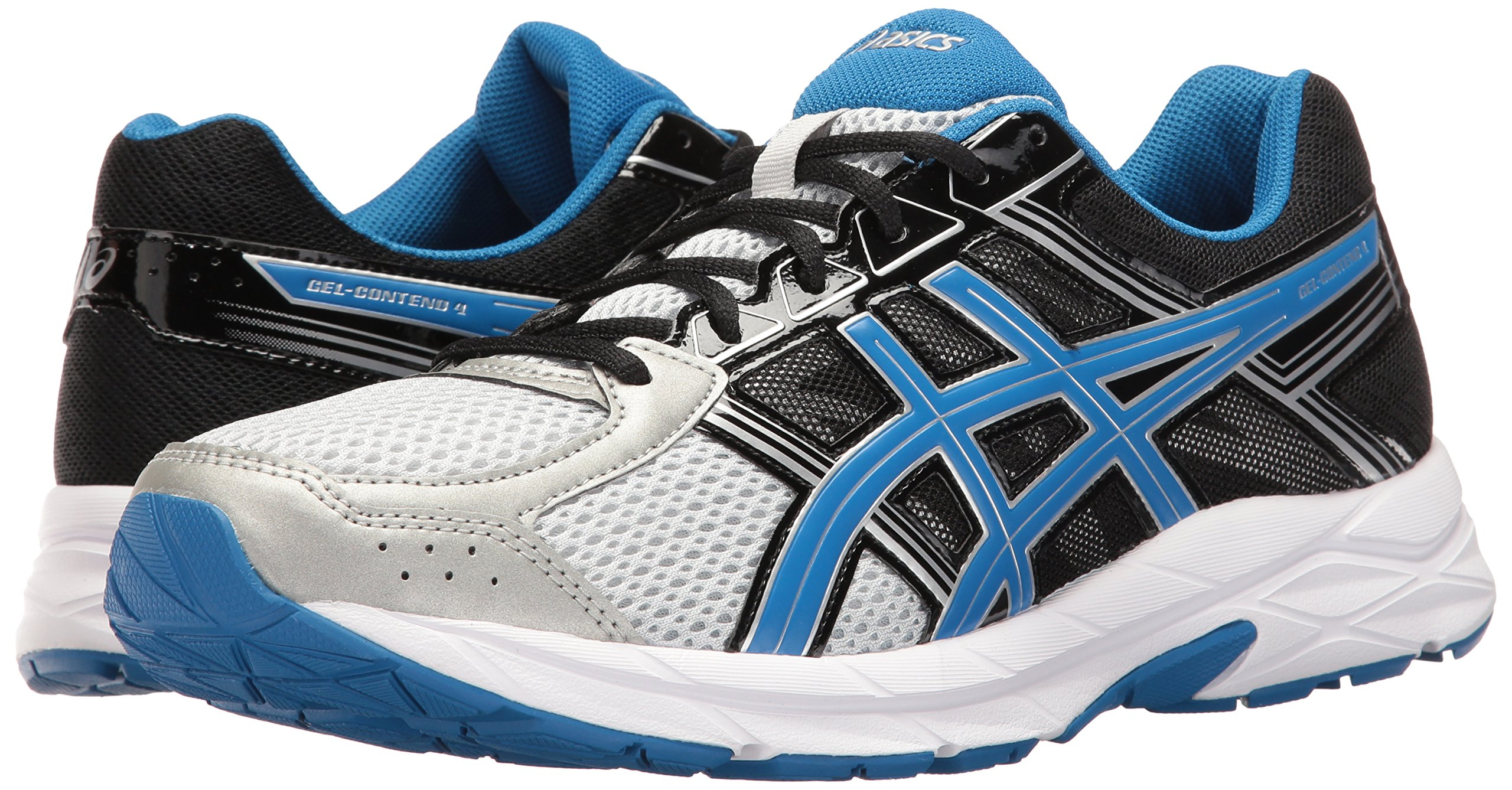 ASICS Men's Gel-Contend 4 Running Shoe, Silver/Classic Blue/Black, 7.5 M US by ASICS (Image #6)