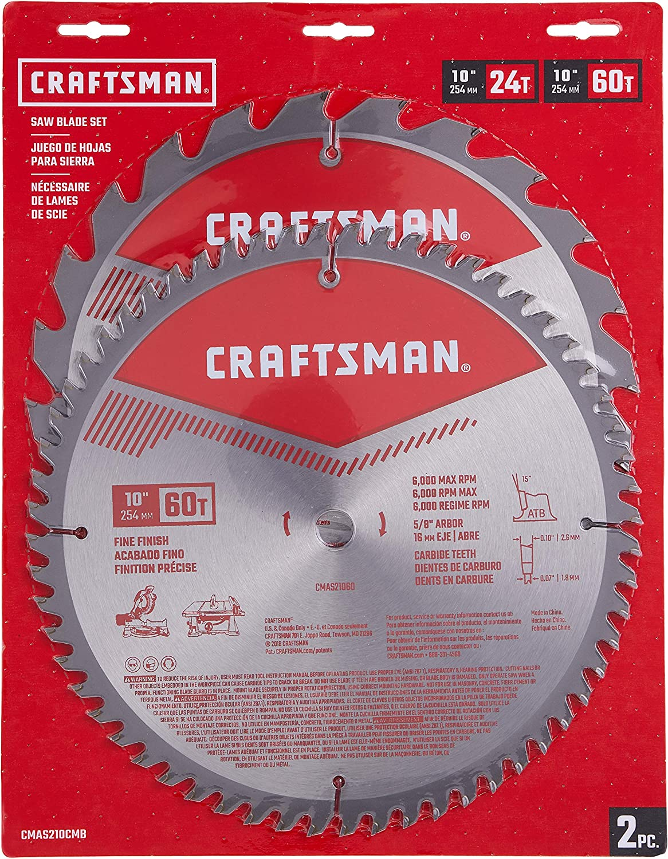 CRAFTSMAN 10-Inch Miter Saw Blade (CMAS210CMB)