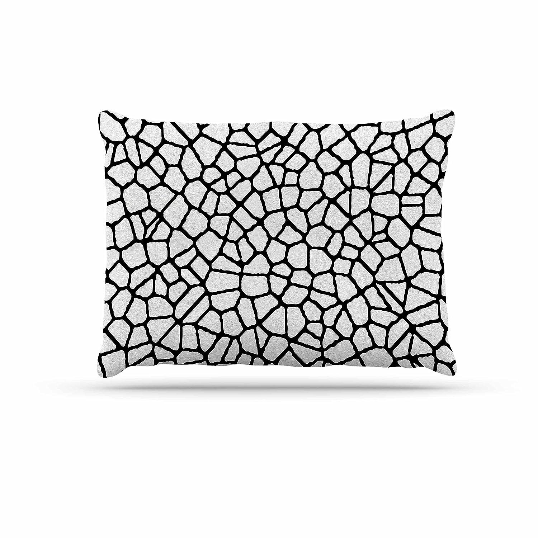 KESS InHouse Trebam Stepenice V.3 Green Pattern Dog Bed, 50  x 40