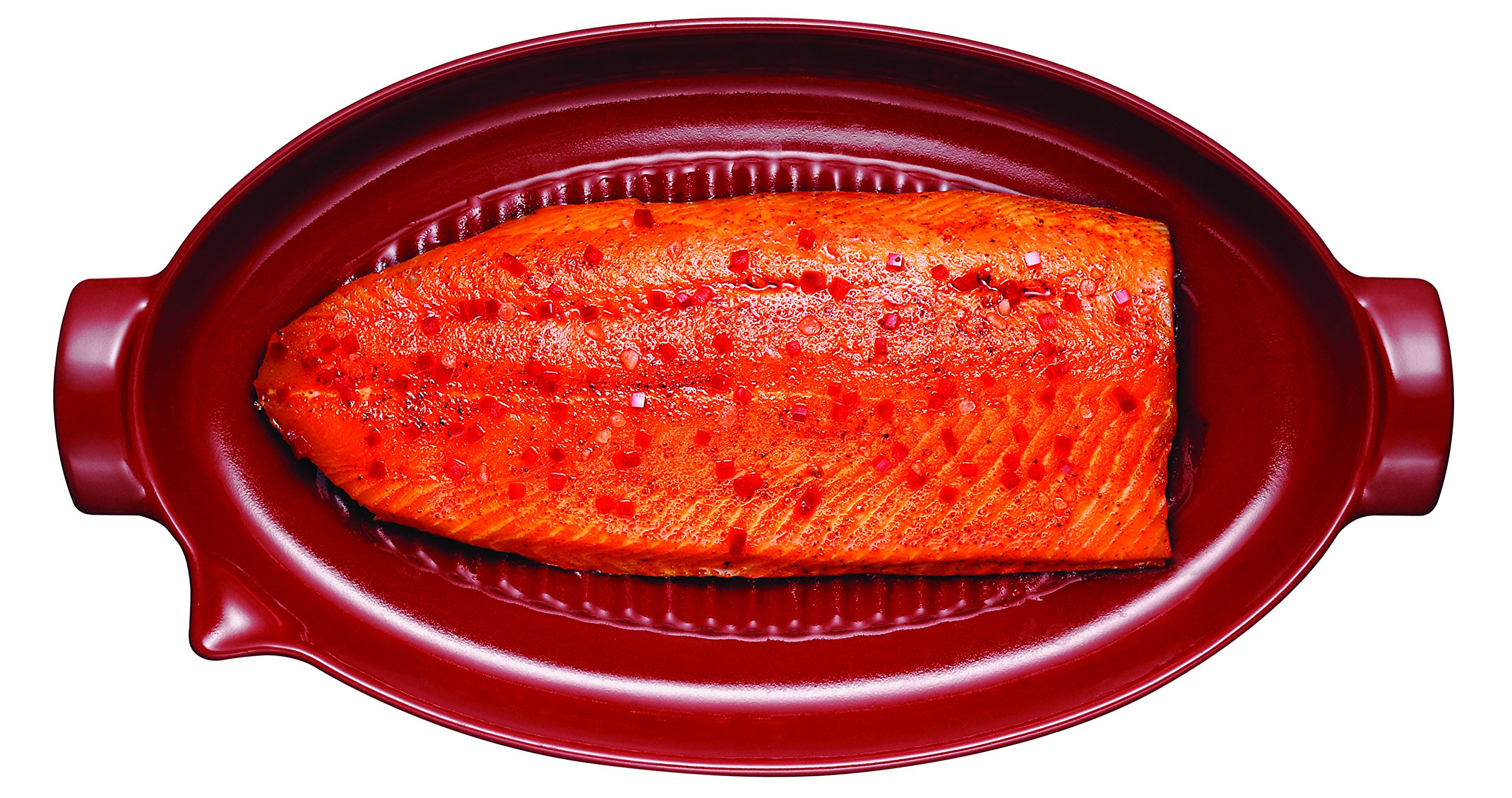 Emile Henry Made In France Flame BBQ Fish Baking Dish, 19.7 x 11'', Charcoal by Emile Henry (Image #4)