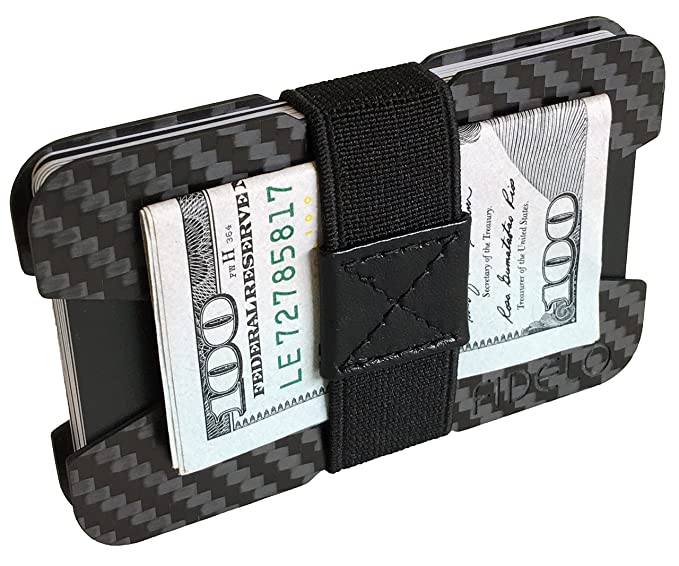 997fff309407 FIDELO Carbon Fiber Minimalist Wallet - Slim Credit Card Holder Money Clip  Wallets for Men - Designed for Front Pocket EDC & Travel – Light Weight ...
