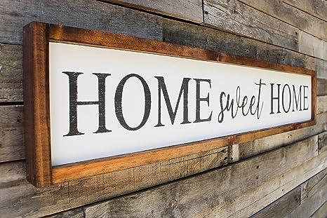 Atwo3242de Home Sweet Home Cartel de Madera para decoración ...