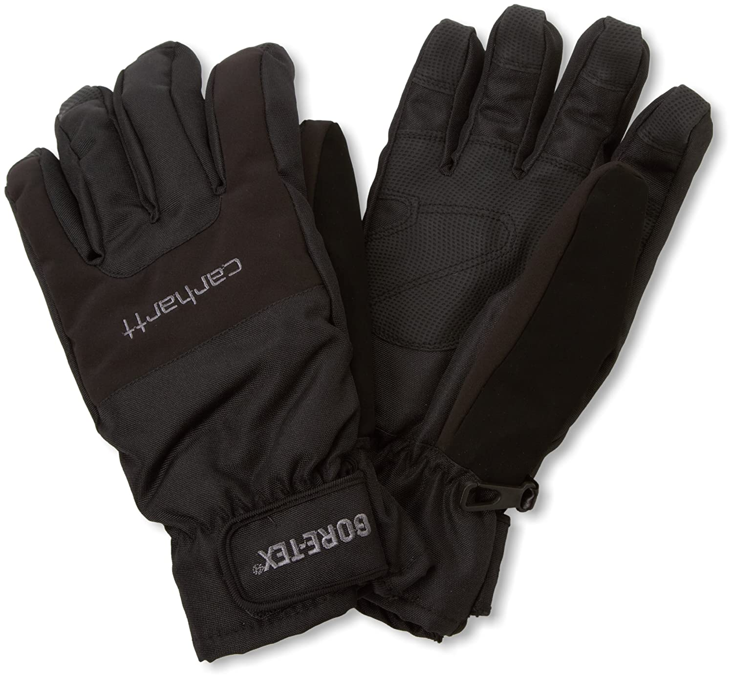 Insulated leather work gloves amazon - Amazon Com Carhartt Men S Storm Gore Tex Windproof Waterproof Insulated Work Glove Black Small Clothing