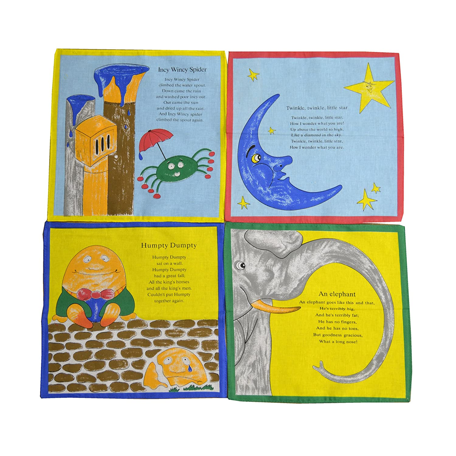 Amazon.com: ETHO 12 Pack Childrens/Kids Nursery Rhymes Handkerchiefs ...