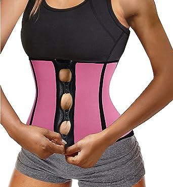 f87087e6e1 Chumian Women s Neoprene Zipper   Buckle Underbust Cincher Waist Trainer  Corset Sport Workout Body Shaper Tummy