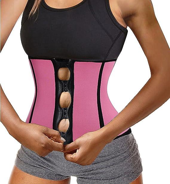 8fe2db2b99b Chumian Women s Neoprene Zipper   Buckle Underbust Cincher Waist Trainer  Corset Sport Workout Body Shaper Tummy