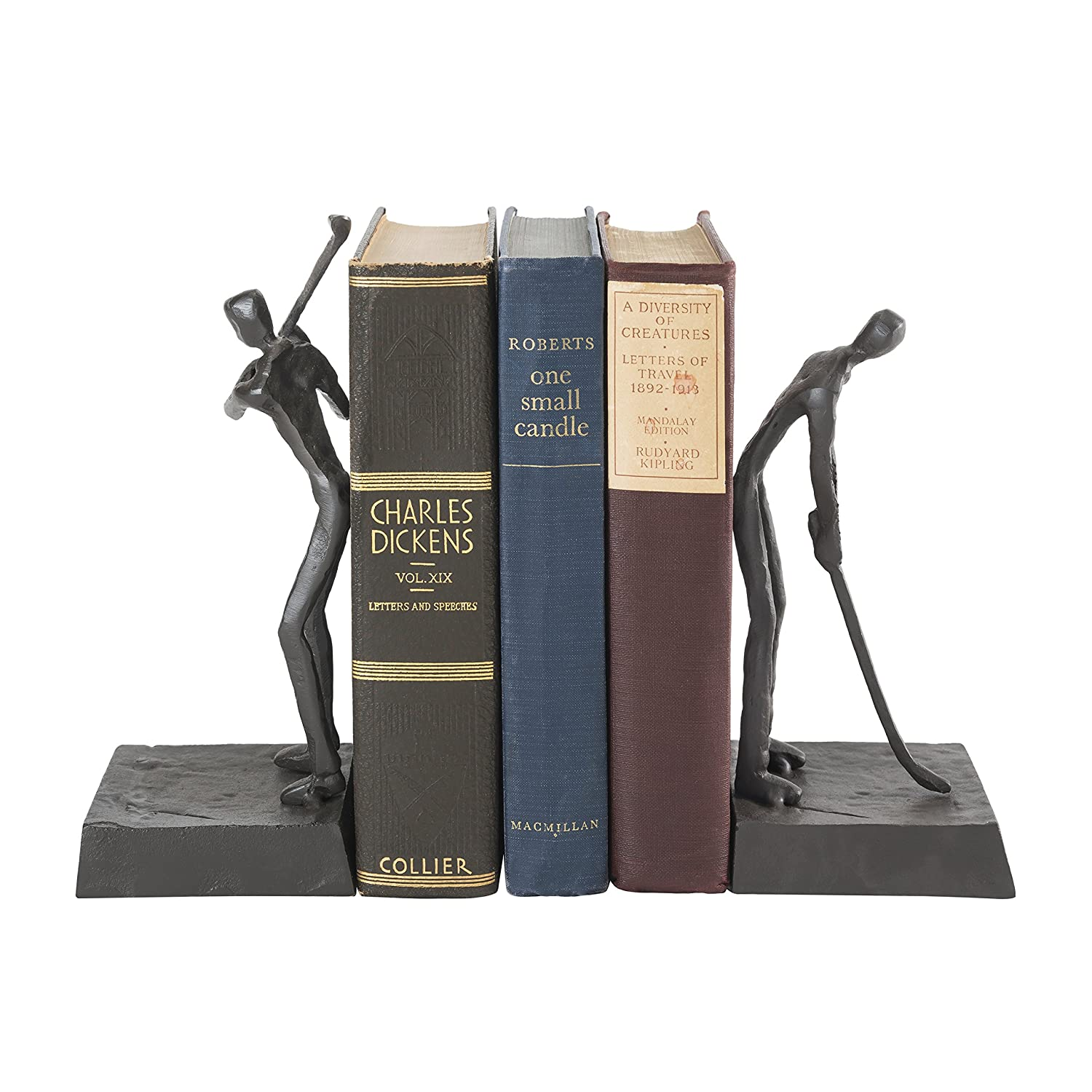 Danya B ZI16003 Golfers Iron Bookend Set – Golf Home Decor and Office Décor - Great Gift Idea for Golf Lovers