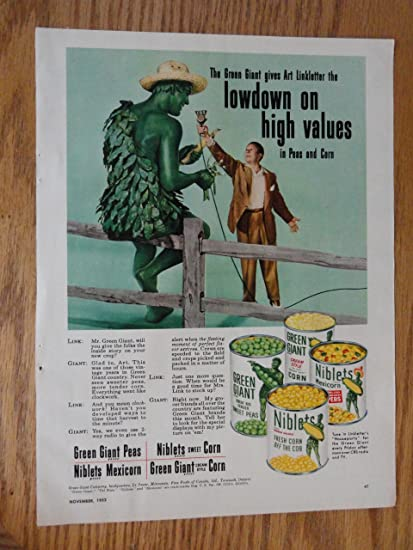 Amazon com: Green Giant, Authentic 1952 Color Illustration