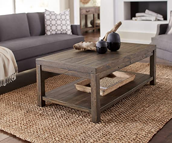 Amazon.com: Benjara Benzara BM187671 Wooden Coffee Table ...