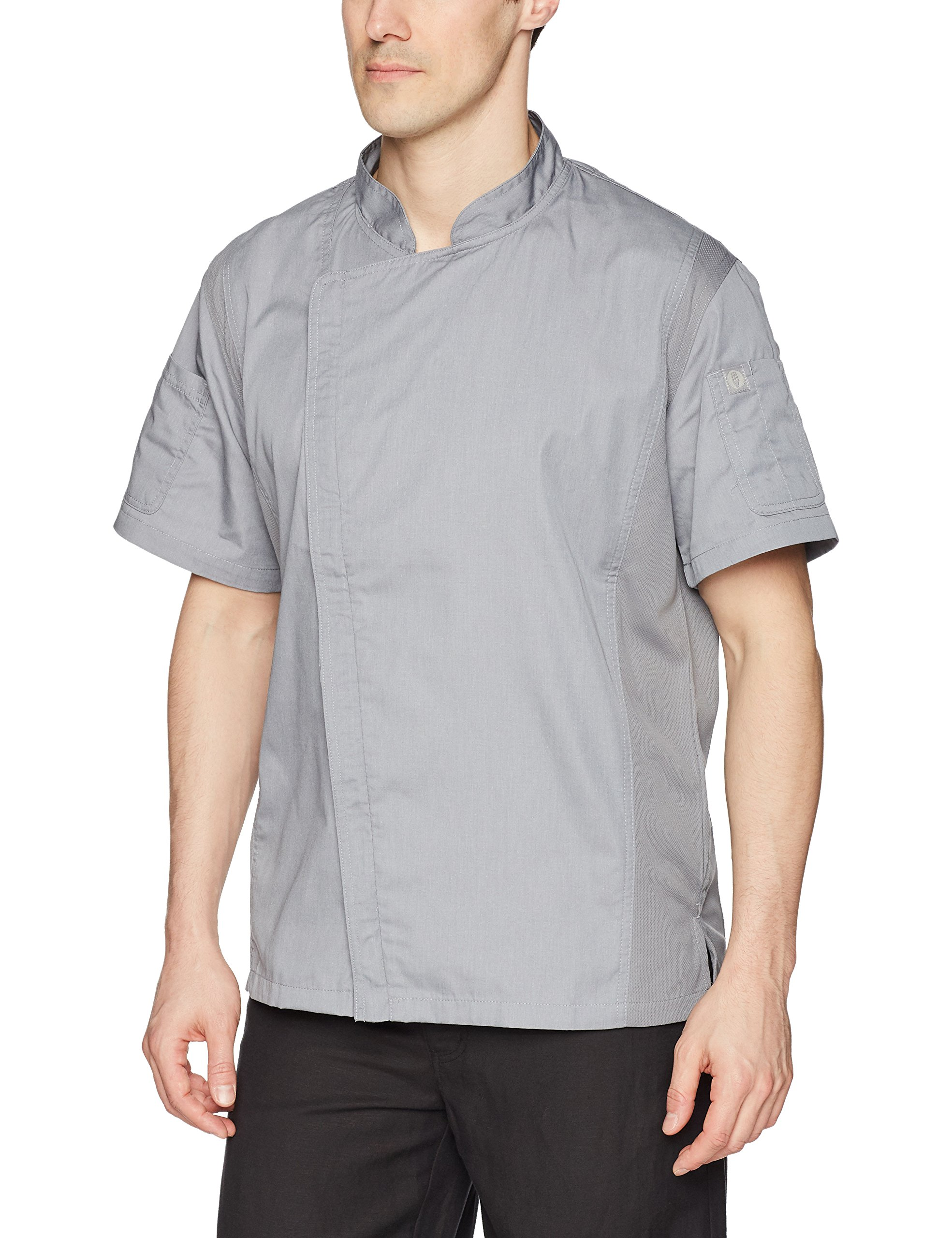 Chef Works Men's Springfield Chef Coat, Gray, Small