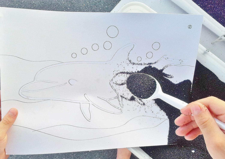 Sandbild Einzelset inkl 15x20cm 15 x Sand je 20 g und Zubehör Klebefolien