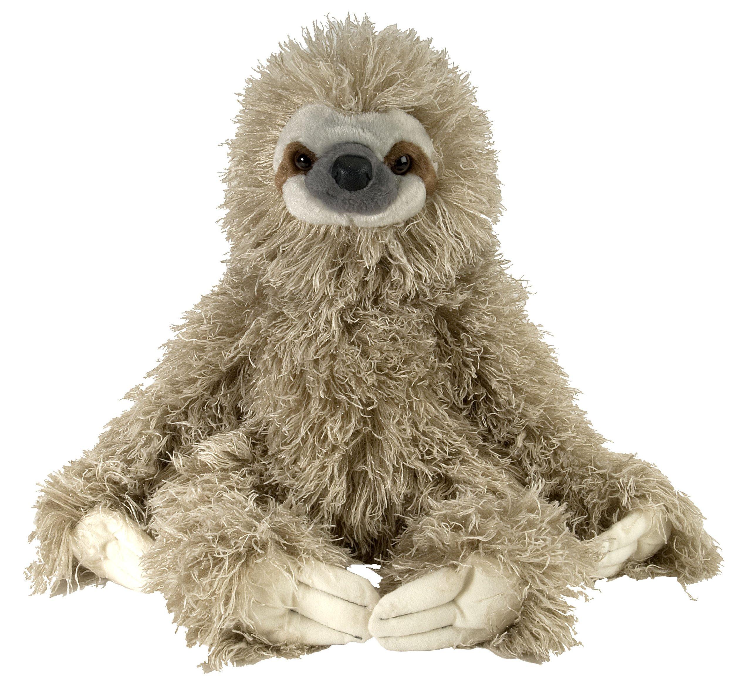 Wild Republic Three Toed Sloth Plush, Stuffed Animal, Plush Toy, Gifts for Kids, Cuddlekins 12 Inches