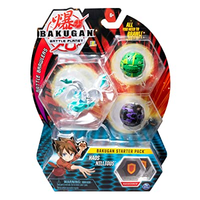 Bakugan Starter Pack 3-Pack, Haos Nillious, Collectible Action Figures, for Ages 6 and Up: Toys & Games